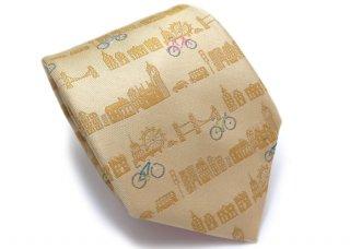 SIMON CARTER(サイモンカーター) 自転車 シルクネクタイ(ゴールド) (ネクタイ/タイ) - ブランド