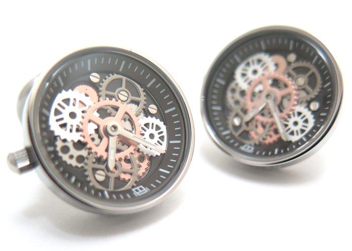 TATEOSSIAN(タテオシアン) メカニカル ビンテージギア時計カフス(IPスティール) 世界限定100セット(カフスボタン/カフリンクス) - ブランドの画像