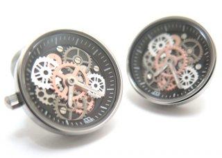 TATEOSSIAN(タテオシアン) メカニカル ビンテージギア時計カフス(IPスティール) 世界限定100セット(カフスボタン/カフリンクス) - ブランド