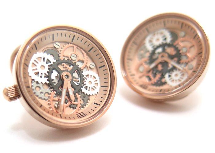 TATEOSSIAN(タテオシアン) メカニカル ビンテージギア時計カフス(ローズゴールド) 世界限定100セット(カフスボタン/カフリンクス) - ブランドの画像