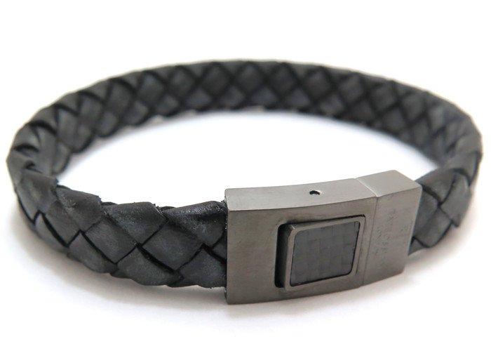 TATEOSSIAN(タテオシアン)カーボンウーブンブレスレット(ブラック) - ブランドの画像