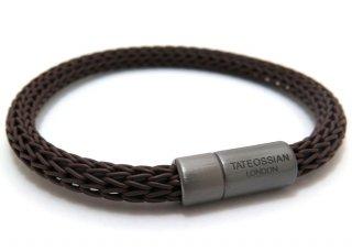 TATEOSSIAN(タテオシアン)レザーシルバー24アワーズブレスレット(ブラウン) - ブランド