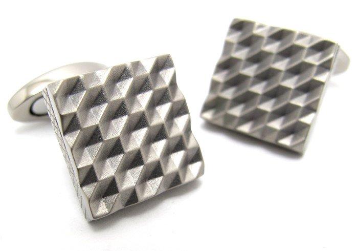 TATEOSSIAN(タテオシアン) チタニウム折り紙カフス(ハニカム)(カフスボタン/カフリンクス) - ブランドの画像