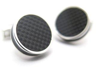 TATEOSSIAN(タテオシアン) タブレットカーボンカフス(ブラック)(カフスボタン/カフリンクス) - ブランド