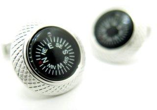 TATEOSSIAN(タテオシアン) コンパスカフス(ブラック)(カフスボタン/カフリンクス) - ブランド