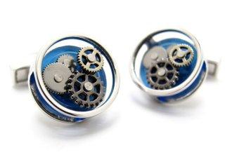 TATEOSSIAN(タテオシアン) ギアラウンドカフス(ブルー)(カフスボタン/カフリンクス) - ブランド