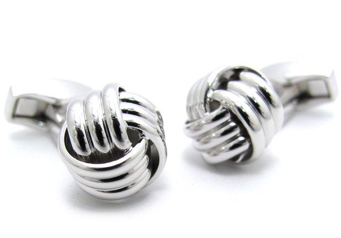 TATEOSSIAN(タテオシアン) ノットリブ カフス (ロジウム)(カフスボタン/カフリンクス) - ブランドの画像