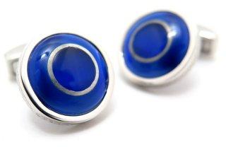 TATEOSSIAN(タテオシアン) リガラウンドカフス(ブルー)(カフスボタン/カフリンクス) - ブランド