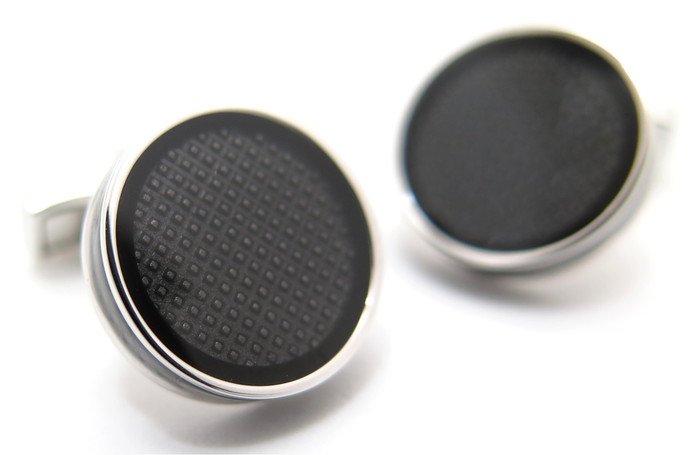 TATEOSSIAN(タテオシアン) アイスタブレットカフス(ブラック)(カフスボタン/カフリンクス) - ブランドの画像