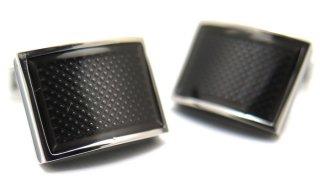 TATEOSSIAN(タテオシアン) アイスレクタングルカフス(ブラック)(カフスボタン/カフリンクス) - ブランド