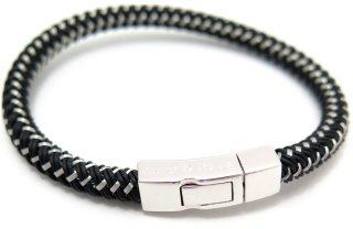 TATEOSSIAN(タテオシアン) シルバークリックステラブブレスレット(ブラック) - ブランド