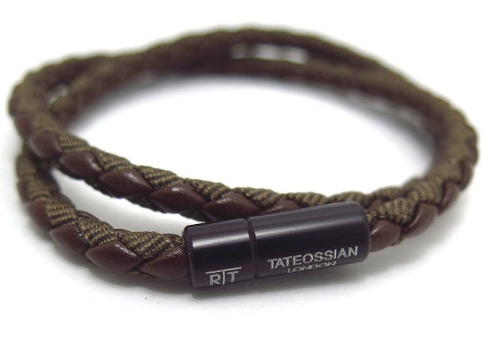 TATEOSSIAN(タテオシアン) チェルシーブレスレット(ブラウンブラック) - ブランドの画像