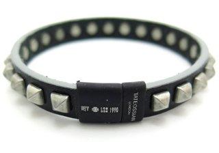 TATEOSSIAN(タテオシアン)スタッズブレスレット(ブラック&ブラッククラスプ) - ブランド