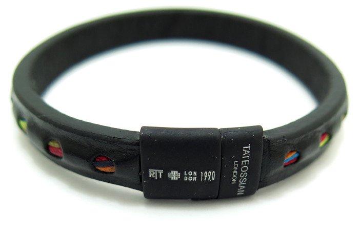 TATEOSSIAN(タテオシアン)ボーホーレザーブレスレット(ブラック&ブラッククラスプ) - ブランドの画像