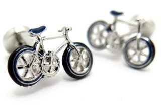 Babette Wasserman(バベットワッサーマン) 自転車カフス(ブルー)(カフスボタン/カフリンクス) - ブランド