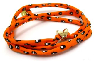 FeFe Glamour Pochette (フェフェグラムールポシェット)  ペンギンシュシュ(オレンジ)(ブレスレット/アンクレット) - ブランド