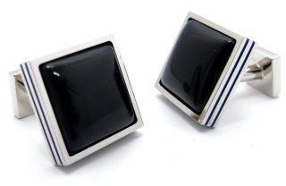 courreges(クレージュ) ブルーグラススクウェアカフス(カフスボタン/カフリンクス) - ブランド