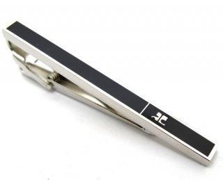 courreges(クレージュ) ブラックパーティションタイバー(ネクタイピン/タイクリップ) - ブランド