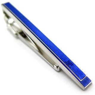 courreges(クレージュ) ダブルレクタングルタイバー(ブルー)(ネクタイピン/タイクリップ) - ブランド