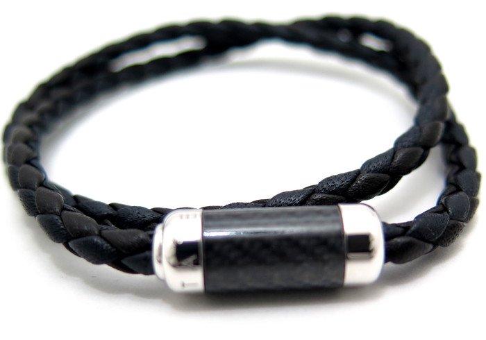 TATEOSSIAN(タテオシアン) モンテカルロシルバーブレスレット(ブラック) - ブランドの画像