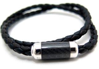 TATEOSSIAN(タテオシアン) モンテカルロシルバーブレスレット(ブラック) - ブランド