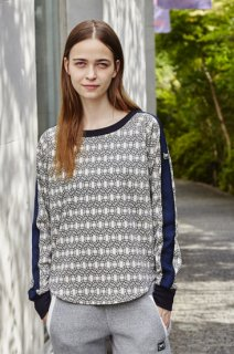 W Comfort Relax Jumper Printed