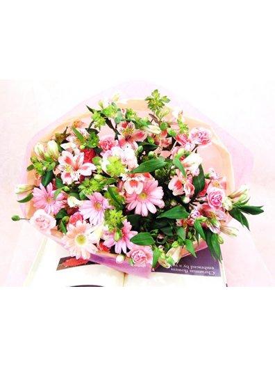 【花束】 ふんわりピンク系S HT-P5