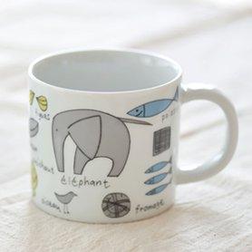 堀井和子さんのゾウのマグカップ