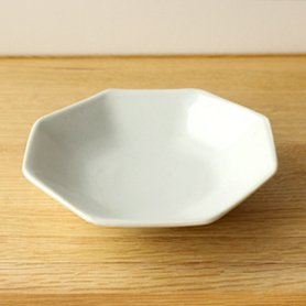 白磁 八角皿 小