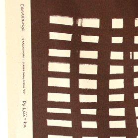 テーブルクロス 110×110 格子柄 茶色