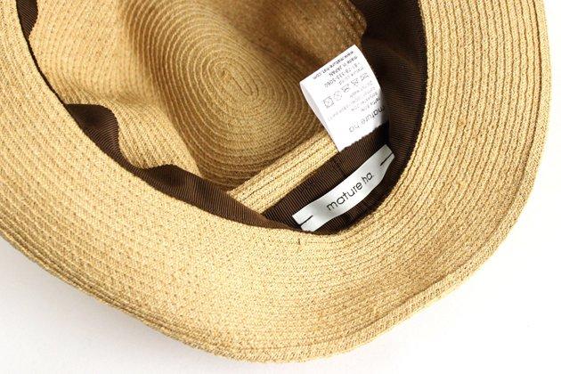 「mature ha.(マチュアーハ)」のブレードハット「BOXED HAT ラフィア×ブラックリボン」