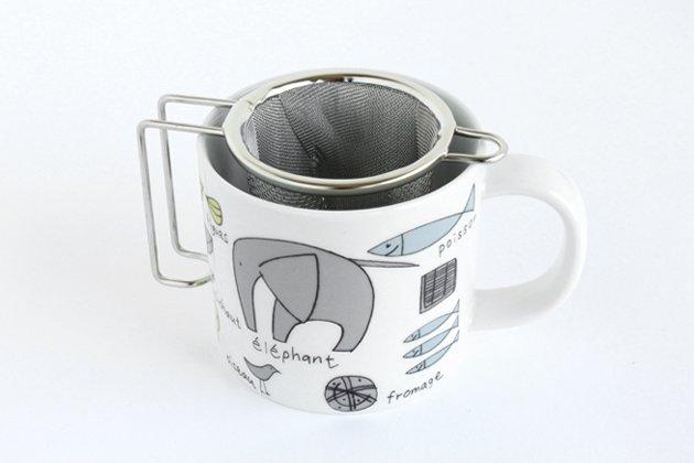 工房アイザワのマイグラス深型茶こし使用例