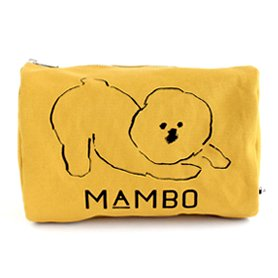 MAMBO ラウンドボックスポーチ L マスタード