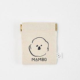 MAMBO フラットバネポーチ mini 生成り