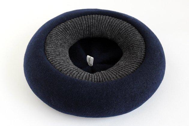 「mature ha.(マチュアーハ)」の帽子「BERET top gather rib 2 tone MKF2111TT」