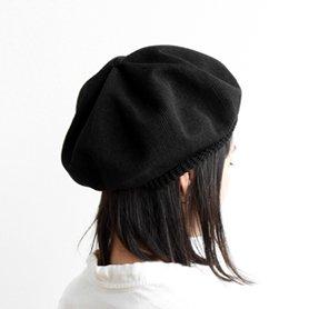 beret top gather big silk MAS18-20 ブラック