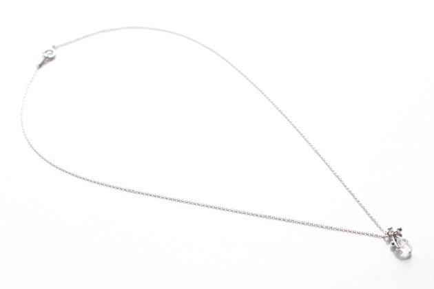 佐藤祐子さんのジュエリー作品「petit seed ハーキマー ネックレス」