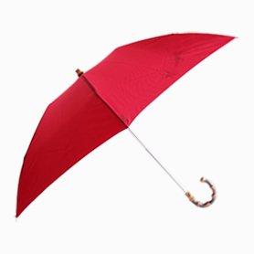 折りたたみ傘 晴雨兼用 袋付き 赤