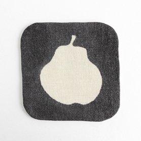 泥染 コースター pear