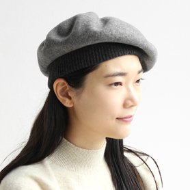 BERET top gather rib 2 tone MKF2111TT グレー