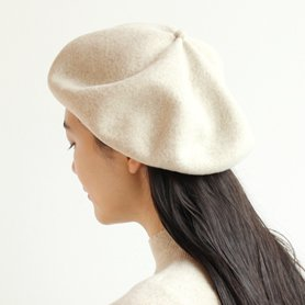 MKF2001 beret top gather big エクリュ