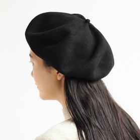 MKF2001 beret top gather big ブラック