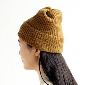 MAW-11 pleats knit cap マスタード