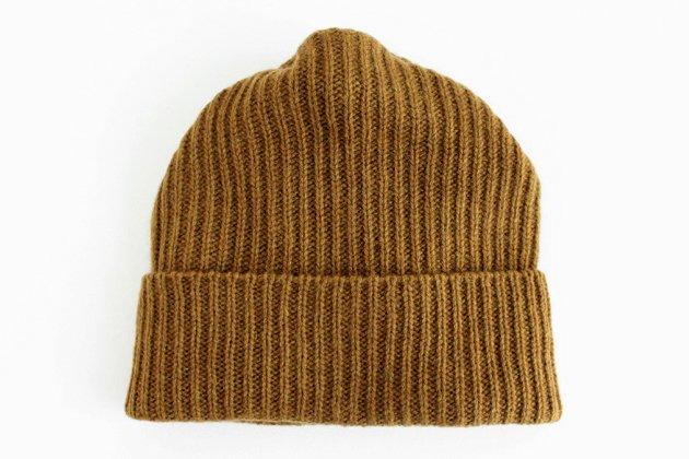 「mature ha.(マチュアーハ)」のニットキャップ「MAW-11 pleats knit cap」
