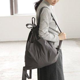 Drawstring Backpack グレー
