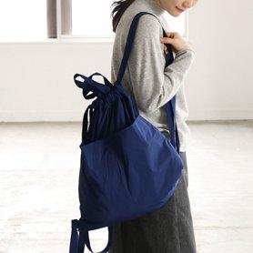 Drawstring Backpack ブルー