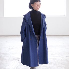 canvas coat ネイビー