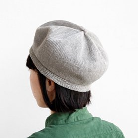 beret top gather linen MLK-01 ライトグレー