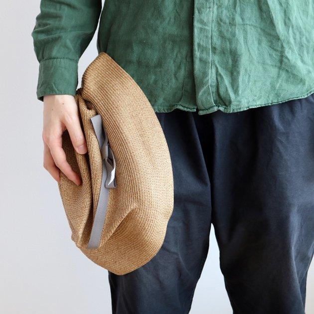 「mature ha.(マチュアーハ)」のブレードハット「BOXED HAT 101 ミックスブラウン×グレー」