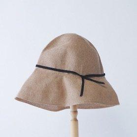 MPB-01S paper braid light hat wide(貼箱入り)ミックスブラウン×ブラック